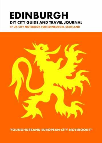 Edinburgh DIY City Guide and Travel Journal by Younghusband European City Notebooks (ProductiveLuddite.com)