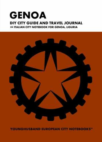 Genoa DIY City Guide and Travel Journal by Younghusband European City Notebooks (ProductiveLuddite.com)