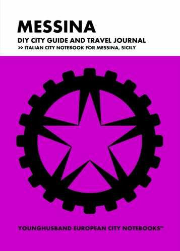 Messina DIY City Guide and Travel Journal by Younghusband European City Notebooks (ProductiveLuddite.com)