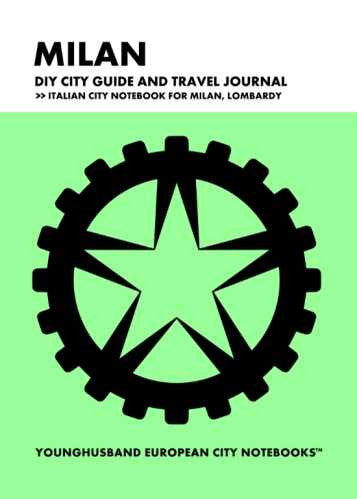 Milan DIY City Guide and Travel Journal by Younghusband European City Notebooks (ProductiveLuddite.com)