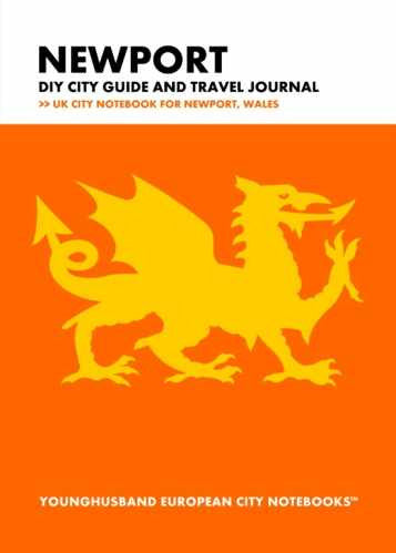 Newport DIY City Guide and Travel Journal by Younghusband European City Notebooks (ProductiveLuddite.com)