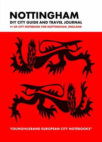 Nottingham DIY City Guide and Travel Journal by Younghusband European City Notebooks (ProductiveLuddite.com)