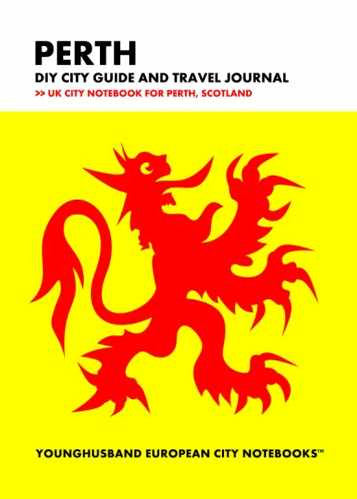 Perth DIY City Guide and Travel Journal by Younghusband European City Notebooks (ProductiveLuddite.com)