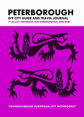 Peterborough DIY City Guide and Travel Journal by Younghusband European City Notebooks (ProductiveLuddite.com)
