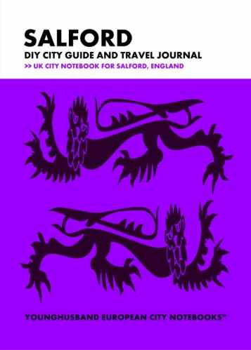 Salford DIY City Guide and Travel Journal by Younghusband European City Notebooks (ProductiveLuddite.com)