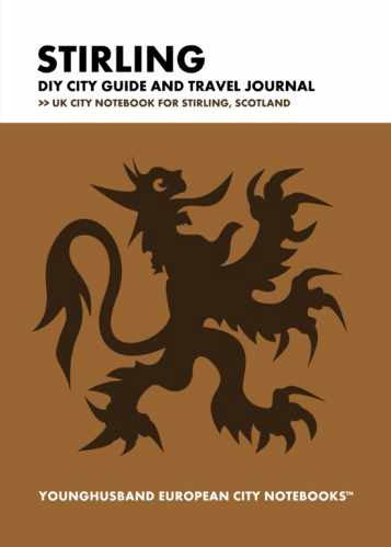 Stirling DIY City Guide and Travel Journal by Younghusband European City Notebooks (ProductiveLuddite.com)