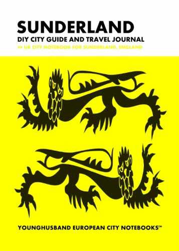 Sunderland DIY City Guide and Travel Journal by Younghusband European City Notebooks (ProductiveLuddite.com)