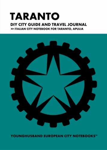 Taranto DIY City Guide and Travel Journal by Younghusband European City Notebooks (ProductiveLuddite.com)