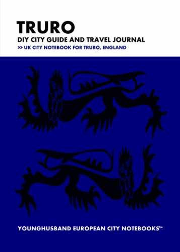 Truro DIY City Guide and Travel Journal by Younghusband European City Notebooks (ProductiveLuddite.com)