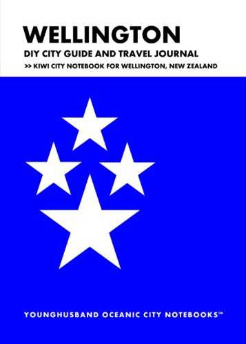 Wellington DIY City Guide and Travel Journal by Younghusband Oceanic City Notebooks (ProductiveLuddite.com)