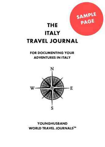 Sample Interior Page for The Italy Travel Journal