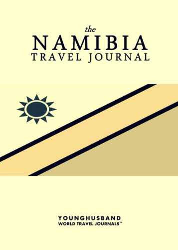 The Namibia Travel Journal by Younghusband World Travel Journals (ProductiveLuddite.com)