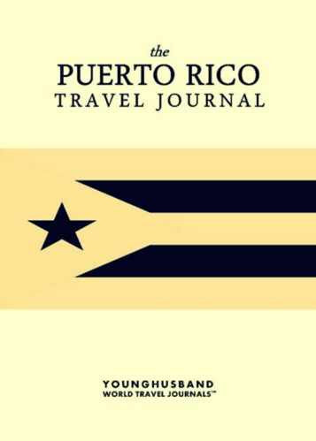 The Puerto Rico Travel Journal by Younghusband World Travel Journals (ProductiveLuddite.com)