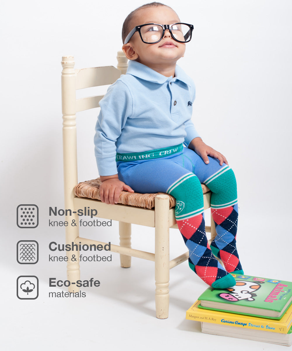"""Smarty Pants""- Baby Boy & Baby Girl Tights"