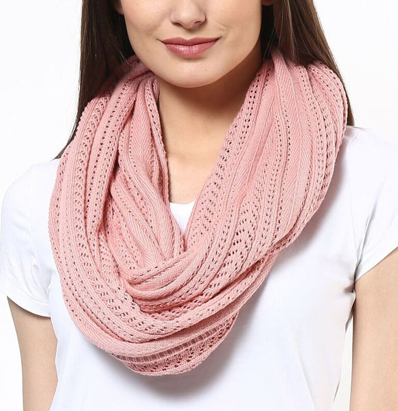 Pointelle Knitted Scarf