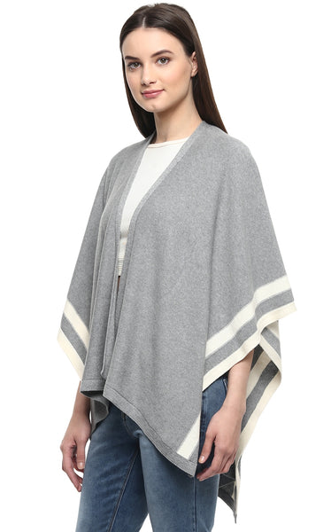 Stripe Knitted Cape