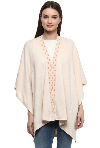 Polka Dot Knitted Cape