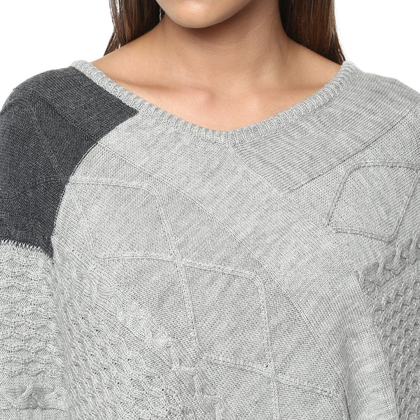 Diamond Knitted Poncho