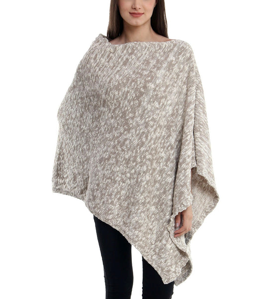 Boucle Knitted Poncho