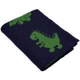 Dino Knitted Baby Blanket