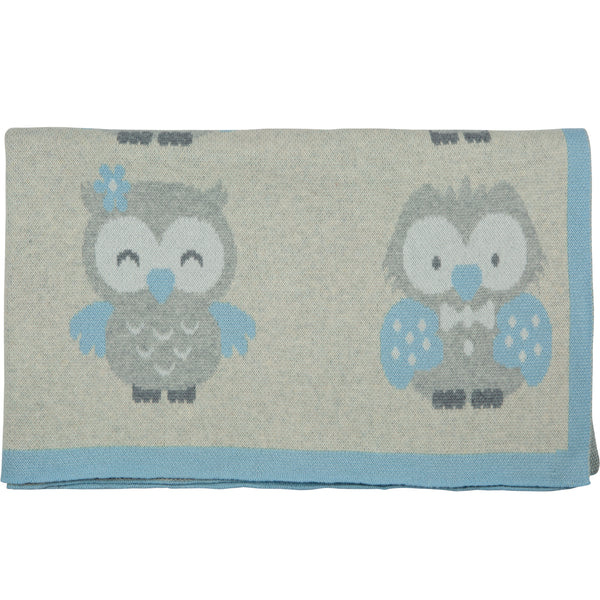 Owl Knitted Baby Blanket