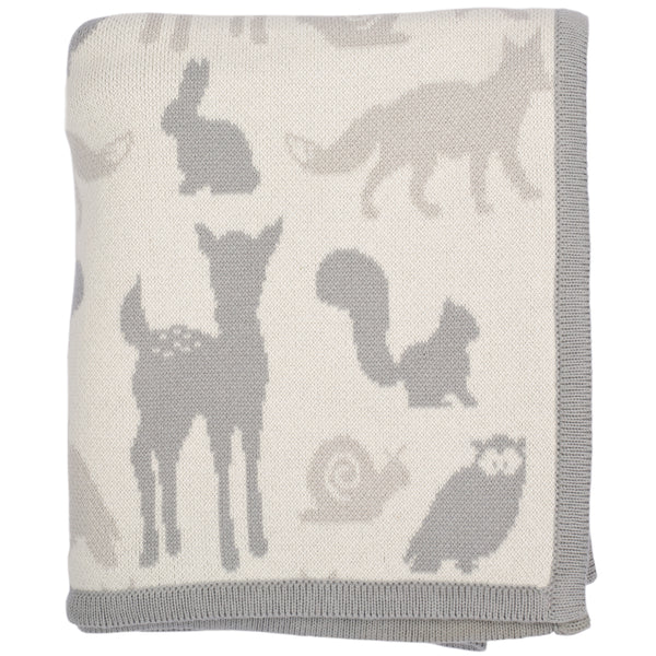Woodland Animal Knitted Baby Blanket