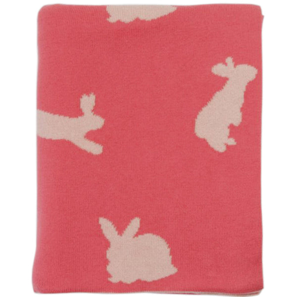 Bunny Knitted Baby Blanket