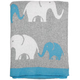 Elephant Knitted Baby Blanket