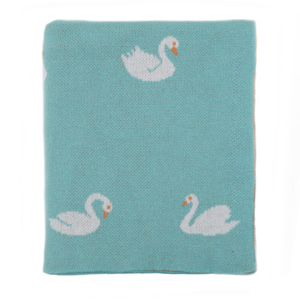 Swan Knitted Baby Blanket