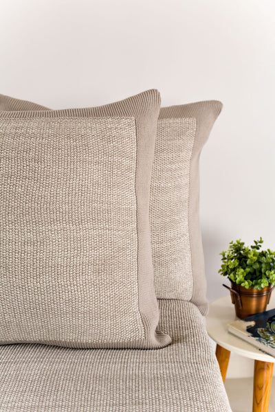 Organic European Knitted Sham Pillow