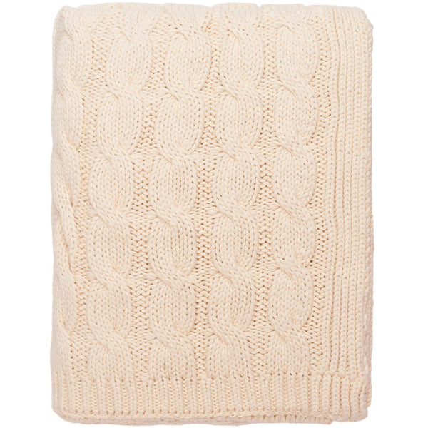 Big Cable Knitted Throw