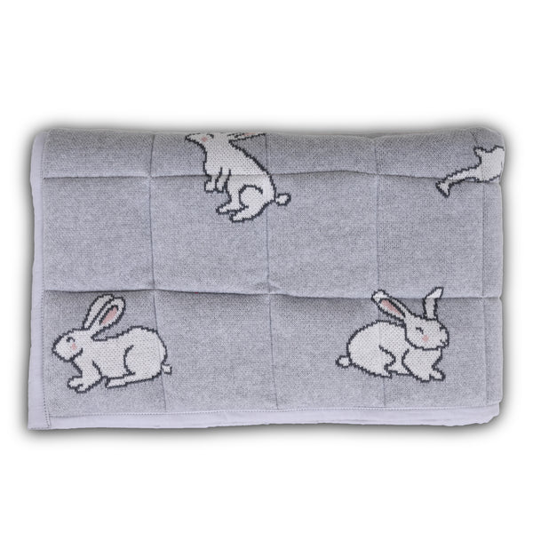 Bunny Knitted Baby Playmat