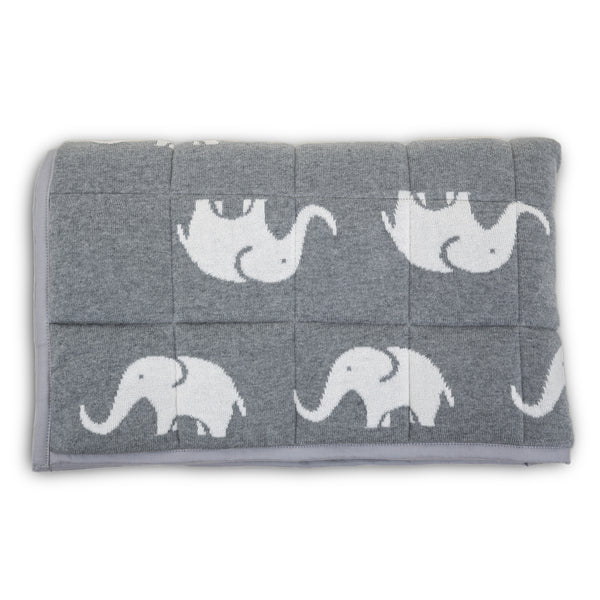 Elephant Knitted Baby Playmat
