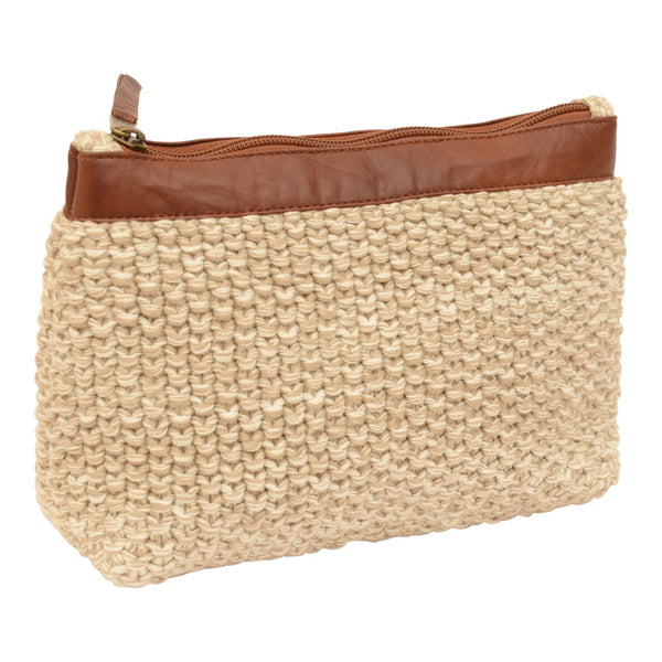 Moss Knitted Pouch
