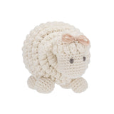 Organic Knitted Sheep Rattle Toy