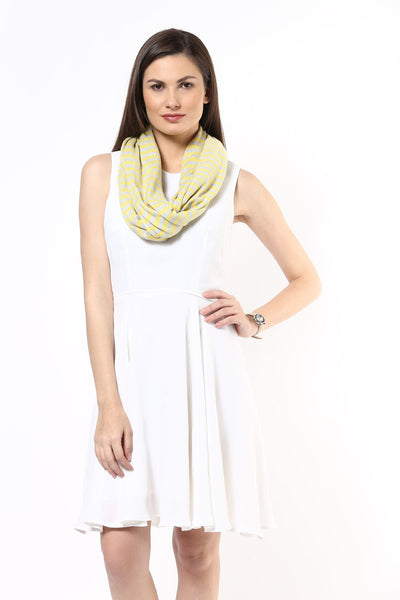 Spring Stripe Knitted Scarf
