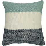 Marl Moss Stripe Knitted Pillow