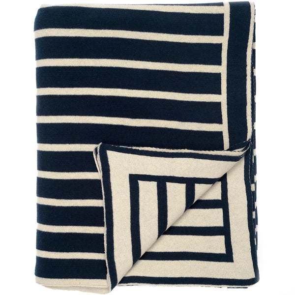Beach Stripes Knitted Throw