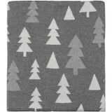 Pine Tree Knitted Throw