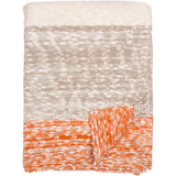 Thick and Thin Stripe Knitted Throw