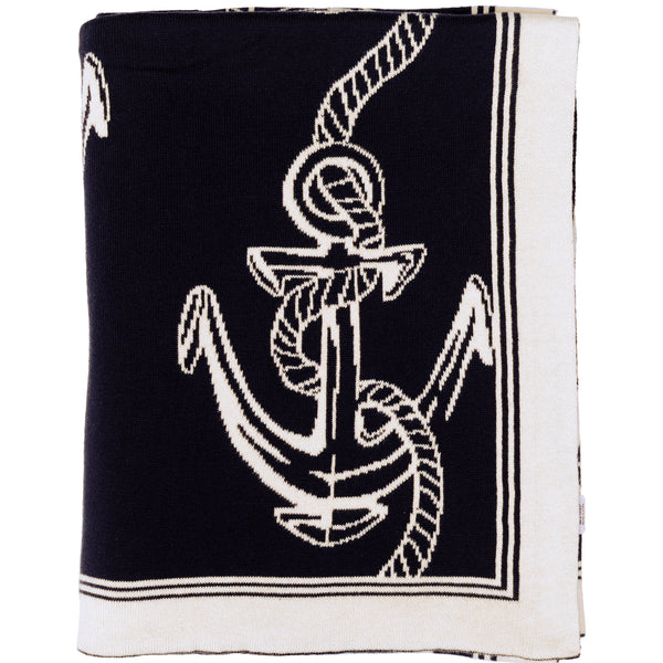 Rope & Anchor Knitted Throw