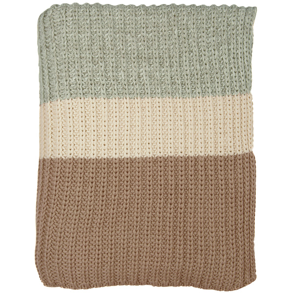 Chunky Rib Knitted Throw