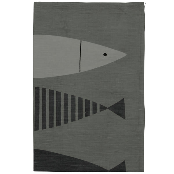 Fish Linen Tea Towel