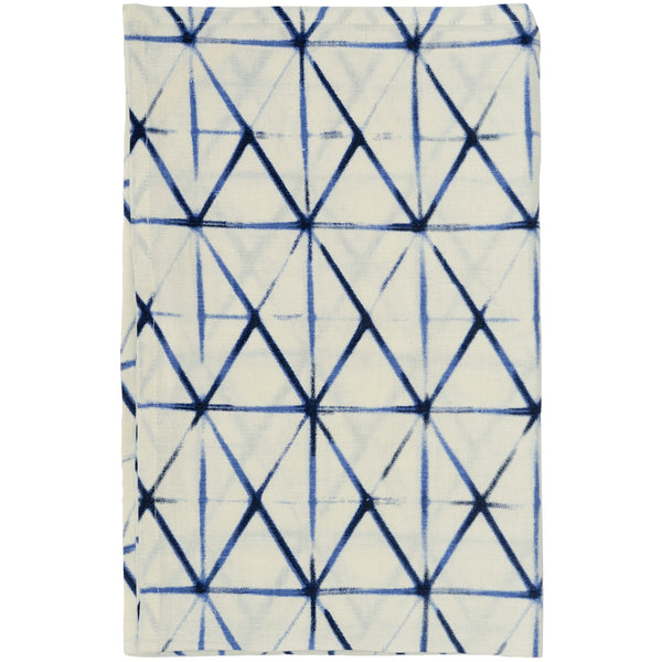 Shibori Clamp Linen Tea Towel