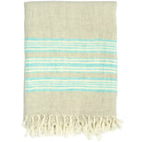 Classic Stripe Linen Throw