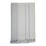Vertical Stripe Linen Throw