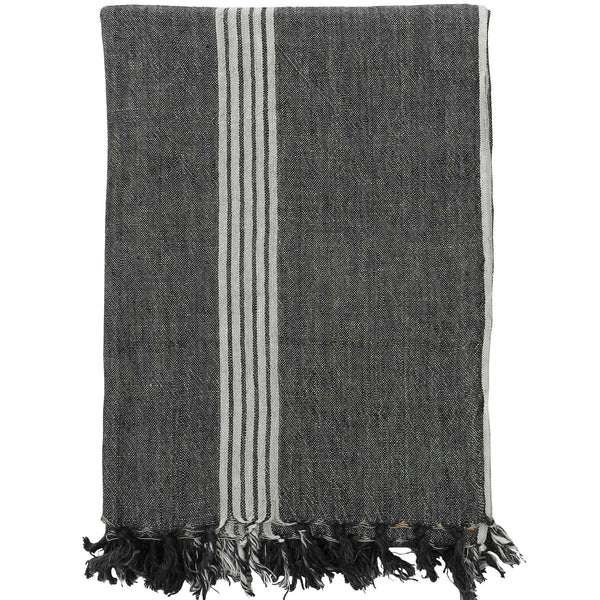 Marker Stripes Linen Throw
