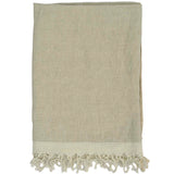 Chambray Solid Linen Throw