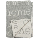 Love Is In My Home Knitted Throw