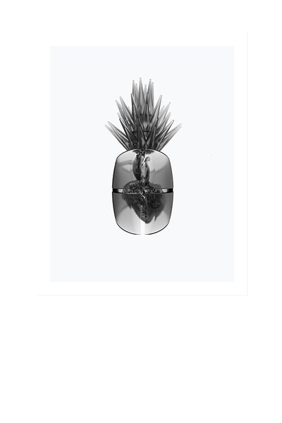 Glass Heart Pineapple
